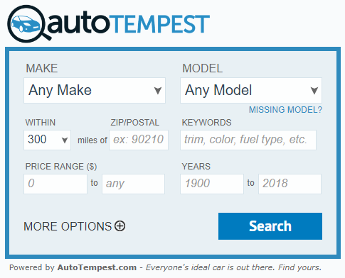 Advanced AutoTempest Widget